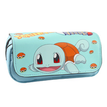 New Arrival Pokemon Pen Bags Pikachu Glaceon Flareon Umbreon Cartoon Fabric Pencil Case Kids Gift Anime Zipper Stationery Wallet(China)