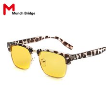 High Quality Anti Blue Ray Reading Glasses Screen Viewing Goggles Fashion Half Rimmed Round Protective Sunglasses Accessories