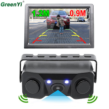 Auto Reversing Radar Car Parking Sensors Rear View Camera 2 Sensors Indicator Bi Bi Alarm Car Reverse Radar Assistance System
