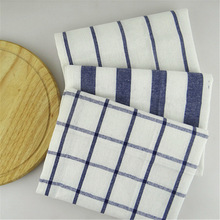 6pcs/lot Mediterranean Table Napkin Cotton Stripe Lattice Napkins Meal Tea Towels Insulation Pad Towel