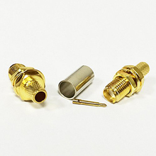 RP SMA Female Connector RP SMA Female Plug Crimp RG58 RG142 LMR195 RG400 Cable Straight High Quality Wire Connector