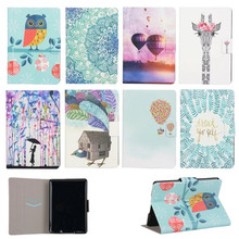 case For amazon kindle paperwhite 1&2 3 6'' ereader Painted Owl PU Leather protective cover Stand Flip Tablet Cover Protective(China)