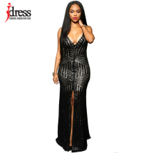 IDress Vestidos De Noite 2016 Sexy Backless Lady Dress Evening Sequined Dress 2016 Long Sequin Dres Formal Gown Vestido De Festa