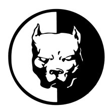 12*12 car-styling 1pc Pit Bull Dog Motorcycle Car Sticker For honda ford opel vw mazda 6 car-covers Waterproof Reflective Tape