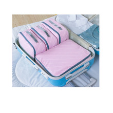 4 pcs Travel Packing Cubes Fashion Waterproof Travel Packing Organizers High Quality Soft Clothes Travel bag 4 Sets Men Women
