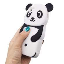 Besegad Cute 3D Cartoon Panda Animal Silicone Protective Case Cover Skin Shell for Apple IPhone 5S 5 S SE IPhone5s IPhone5