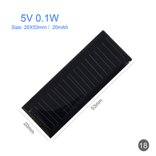 Mini DIY Panel 5V0.1W,20X53mm,20mAh,DIY Solar Panel Charger for Hand made Home Garden Light System,Cell Phones,Sun Power Charger(China)
