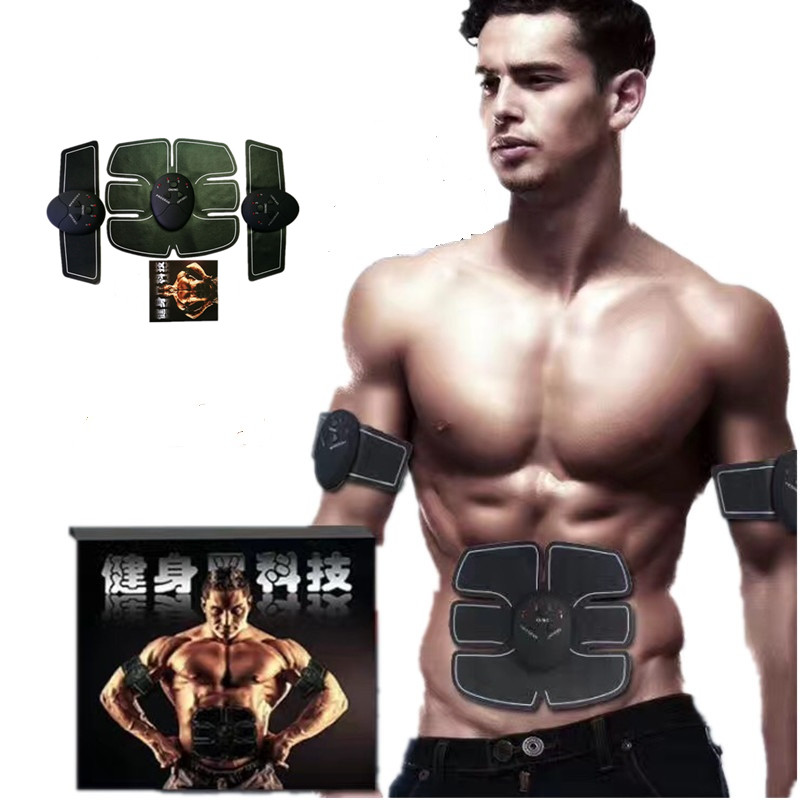slimming electric abdominal muscle trainer ems body massage training sports exercise loss weight fitness tracker (4)_