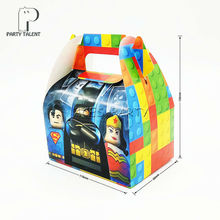 8pcs/lot Candy Box Cake Box for Kids  Batman Theme Party Baby Shower Party Decoration Party Favor Supplies
