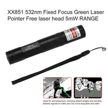 JD851 532nm Fixed Focus Green Laser Pointer for Free laser head 5mW RANGE Hotsale drop shipping(China)