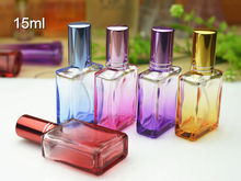 50pcs/lot 15ml Colorful Perfume Glass Bottle Refillable Spray Bottle With Metal Sprayer Empty Glass Perfume Bottles Wholesale
