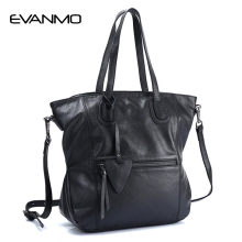2018 Luxury Brand Women Leather Handbag Genuine Leather Women's Bags Famous Designer Shoulder Bag Top Quality Women Shoulder Bag(China)