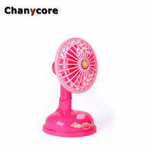 Chanycore Cute dollhouse furniture Toys for girls Electric fan  Emulational Pink Sounding  Toys Baby Girls Play House Toy Gifts