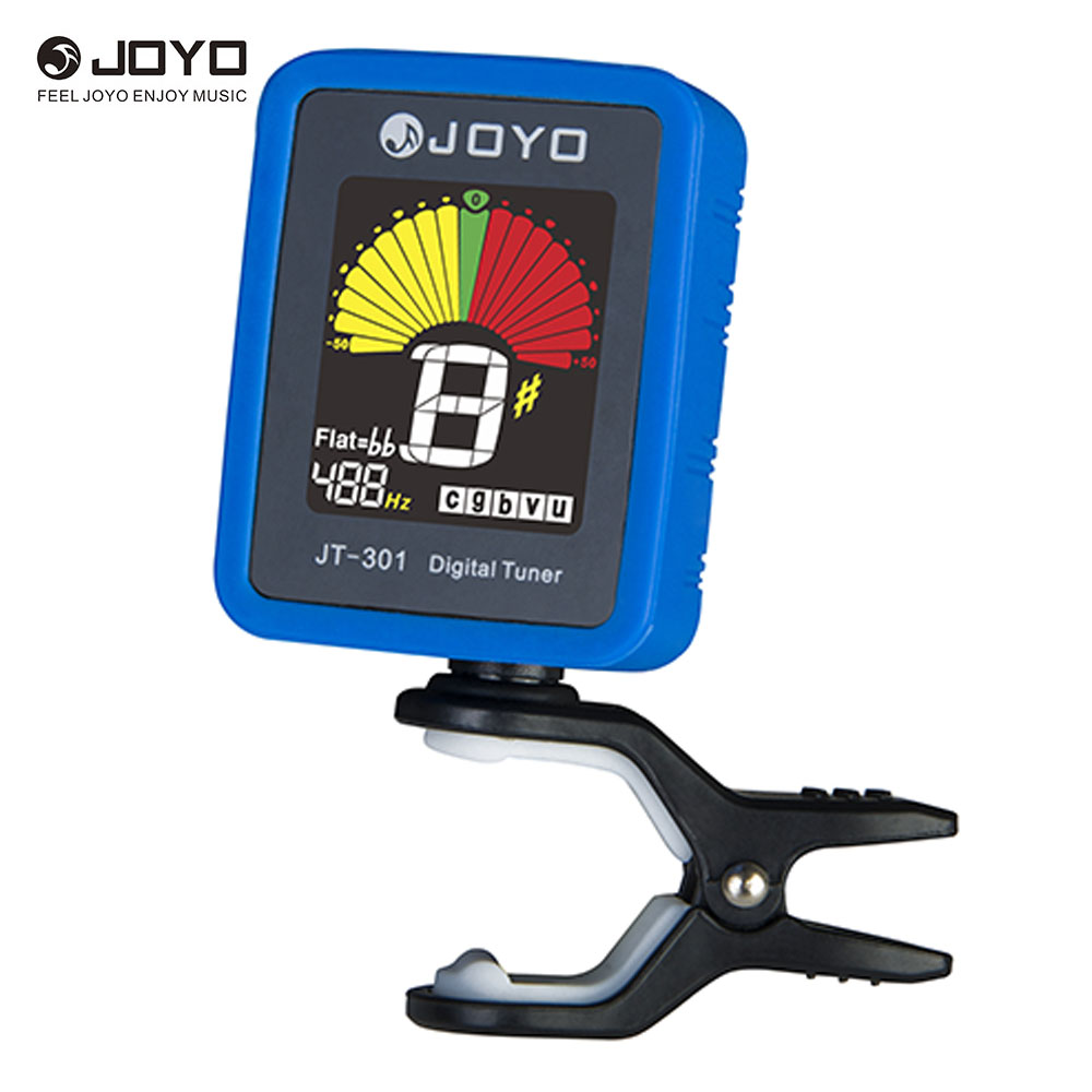 Joyo JT-301 Clip-on Electric Digital Tuner Color Screen with Silica Gel Cover for Guitar Chromatic Bass Ukulele Violin(China (Mainland))