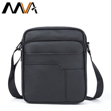 MVA Men's Crossbody Bags Brand Zipper Ipad Holder Flap Genuine Leather Men Bag Leather Shoulder Bag for Men Messenger Bags 7705(China)