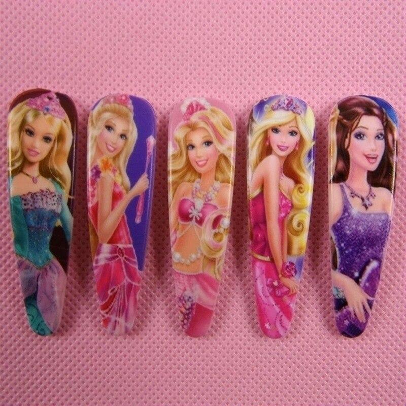 5 Pcs Barbie Doll Princess Hair Accessories Hairgrips Cute BB Bow Hair Clips Headwear Girls Rim Hair Ornaments <br>