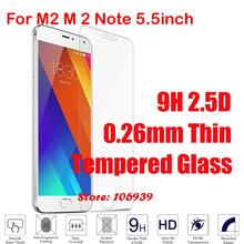 Best Cheap Explosion Proof Anti-Scratch 9H Hard 2.5D 0.26mm Phone Cell Glass Screen Protector For Meizu M2 Note 5.5inch