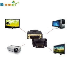 DVI-D Male (24+1 pin) to HDMI Female (19-pin) HD HDTV Monitor Display Adapter Beautiful Gift JJ0121