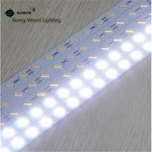 Free shipping 10pcs/lot  40inch led rigid strip ,12vdc 72led/m 21w 8520 led hard strip ,led cabinet bar light with channels