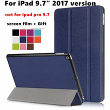 "Slim Magnetic Folding Flip PU Case Flip cover For Apple new Ipad 9.7"" 2017 Tablet case Protective Magnet Case Smart Cover +film"