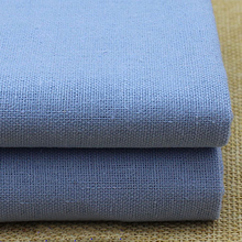 100*140cm,By Meter, Baby Clothing Fabric Sofa Cover Bed Sheets Home Textiles Cotton Linen Material Blue