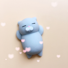 Japanese kawaii animals mochi squishy Cat Mini Cute Squeeze Soft squishy animals Funny Toys Stress Reliever Mini Squishy Cat