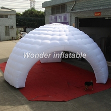 Luxury white inflatable dome tent with 3 entrances for sale, mobile inflatable structures buildings cover for events exhibition(China)