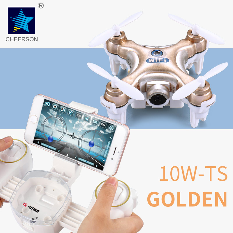 Four-rotor helicopter cheerson CX-10W-TX Quadcopter with a camera drone DJI Phantom HD 3WIFI interesting gift RC2016<br><br>Aliexpress