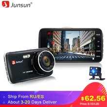 "Junsun 4.0"" IPS Car DVR Camera Dual Lens Dash Cam FHD 1080P with Rear view Auto Registrator Digital Video Recorder Camcorder(China)"