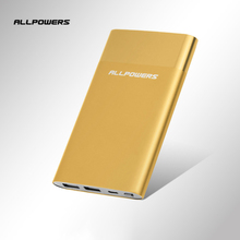 Allpowers Fashion Aluminum Alloy Slim Light Portable 6000mAh External Battery Pack Best Qulaity Fast Charge Power Bank for Phone(China)