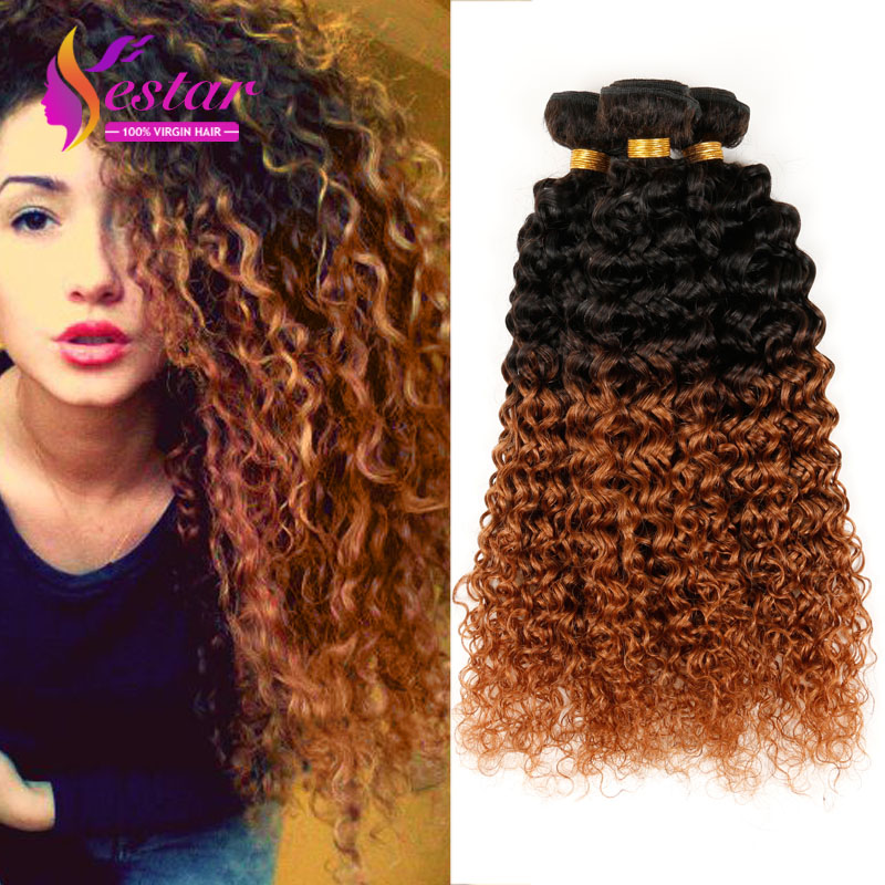 Ombre Kinky Curly Hair Weave Ombre Hair Extensions 6A Brazilian Virgin Hair Kinky Curly Ombre Brazilian Virgin Hair ombre Weave<br><br>Aliexpress
