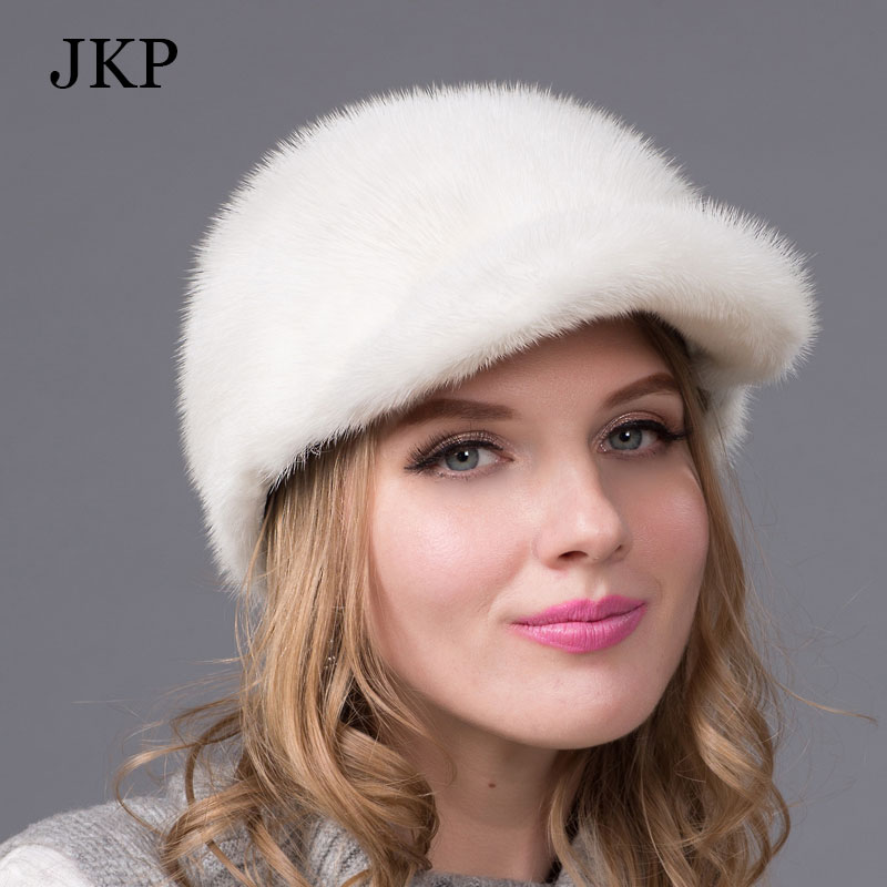 New hot winter fur hat for women genuine mink fur hat with diamond acessories visors 2015 women fur cap good quality casquetteОдежда и ак�е��уары<br><br><br>Aliexpress