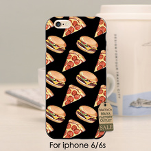 MaiYaCa Design Pizza Hamburgers French fries Original Plastic PC Phone case cover  For iPhone se 5s 6s 7 plus ccase