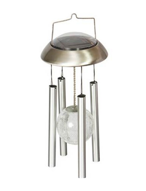 Ball Light Chime Hanging Wind Color Changing Solar Power Stainless Steel<br>