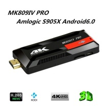 2016 MK809IV PRO Android 6.0 Amlogic S905X VP9 HDR 4K H.265 64BIT TV Stick Kodi 16.0 Preinstalled Tv Dongle 1GB 8GB TV Player