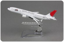 5pcs/lot Wholesale Brand New 1/400 Scale Airplane Model Toys Japan Airlines Boeing B777 (16cm) Diecast Metal Plane Model Toy