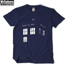 Doctor Who T Shirt Tardis T Shirt Tees Short-sleeve Men Summer Casual T-Shirt Short Sleeve Cotton Print Logo  Shirts