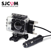 SJCAM Motorcycle Waterproof Case for Original SJCAM SJ5000 Series for SJ4000 Series Charging Case for SJ5000X SJ5000 Plus WiFi(China)
