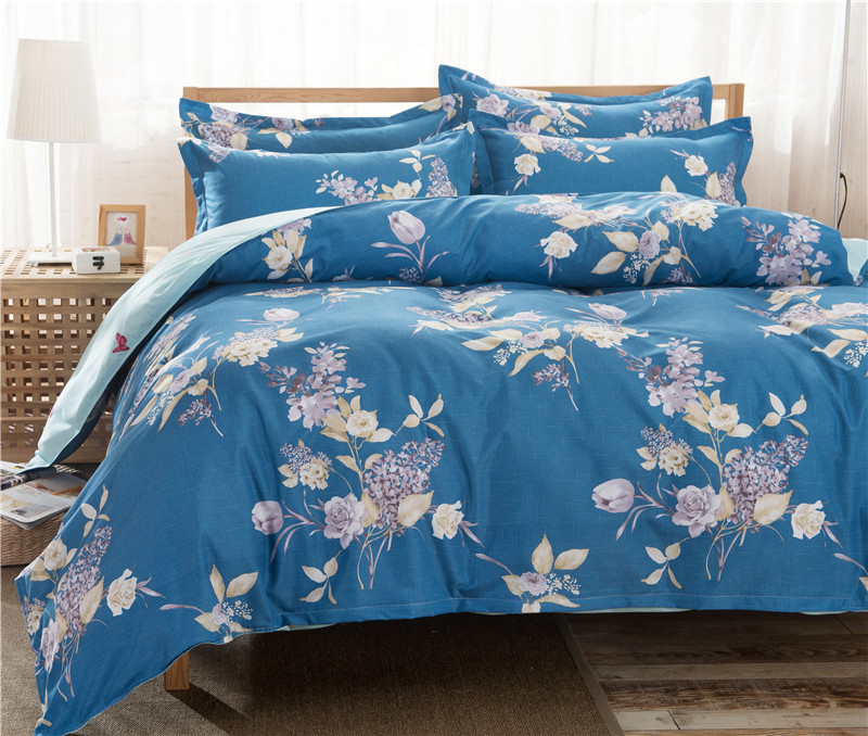 4 Hot selling Free Shipping 3/4 PCS Reactive Printing Bedding Set Duvet Cover Set Bed Linen Diamond Sheet Bedding(China)