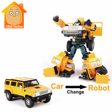 MiniTudou Deformation 1:32 Mini Auto Metal Toy Cars Model Change Into Robot Miniatures Metal Car Toys For Children