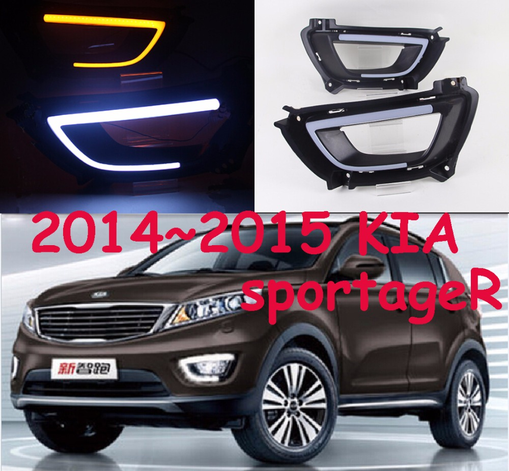 2011~2017 KIA sportageR daytime light,Free ship to your door!LED,KIA sportageR fog light,2ps/set<br>