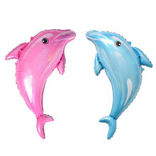 XXPWJ New dolphin modeling aluminum balloon wedding party decoration balloon wholesale high quality T-095(China)