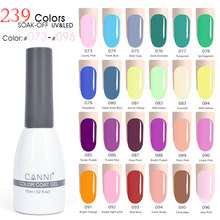 #073-096 Canni 2017 Design of nails 15ml 239 Color Soak Off UV/ LED Nail Gel Polish Gel High Usage Rate color nail uv Gel polish