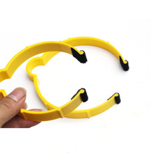 50pcs Yellow Pvc Car Wrap Sticker Clamp Vinyl Film Sheet Clip Fastener Roll Clamp Ring(China)