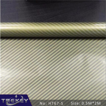 [Width 0.5M] Golden Carbon Fiber  Pattern Water Transfer Printing Film HT67-S, 0.5M*2M Hydrographic film,  Hydro Dipping Film