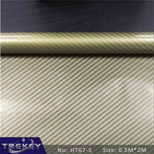 [Width 0.5M] Golden Carbon Fiber Pattern Water Transfer Printing Film HT67-S, 0.5M*2M Hydrographic film, Hydro Dipping Film(China)