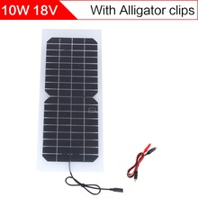 ELEGEEK 10W 18V Semi-flexible Transparent Solar Cell Panel with DC Output + Crocodile Clip 440*190mm Mini Solar panel for DIY