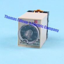 Power Off Delay Timer Time Relay 0-3 Minute 3M ST3PF with socket base AC 220V(China)