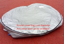 spa Insulated UV Weatherproof Round hot tub spa cover bag 2.1m round 90cm high(China)