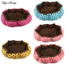 Pet Bed For Dogs 1 PC Soft Fleece Pet Dog Puppy Cat Warm Bed House Plush Cozy Nest Mat Pad 36cmX30cm Dot Print Pet Bed D28